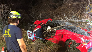 Person drives $385K Ferrari off bridge in Austin, goes airborne for 40…