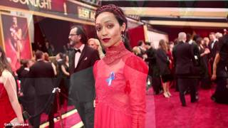 Ruth Negga in red, plenty of gold on Oscars red carpet