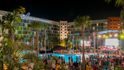 In this handout photo provided by Universal Orlando Resort, Cabana Bay Beach Resort at Universal Orlando Resort officially grand opened with a special performance by The Beach Boys. James Kilby/Universal Orlando Resort via Getty Images