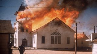 Fire destroys North Dakota church owned by white supremacist