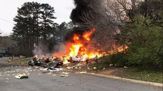 1 dead after plane crashes into home in Georgia
