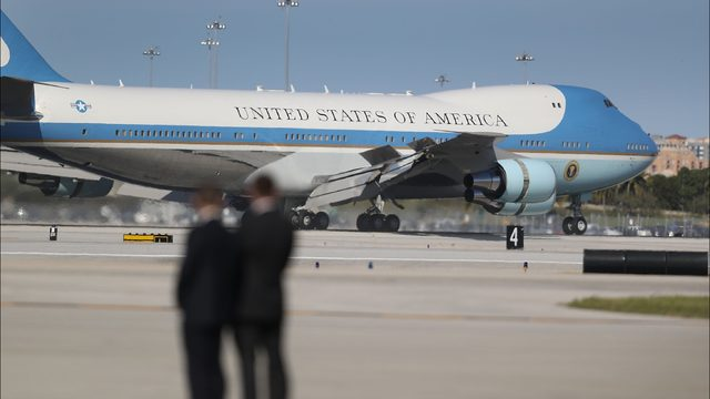 Air Force One (Photo by Joe RaedleGetty Images)
