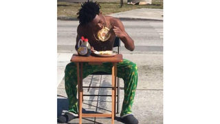 Florida man buys pancakes, eats them in city crosswalk