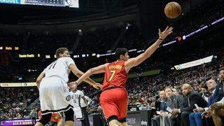 Atlanta Hawks fan celebrates major dunk with silly dance