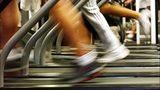 Runners on treadmills.