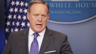 WATCH: Sean Spicer Speaks On Afghanistan Bomb