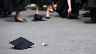 Student graduates from college after stepfather said he