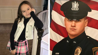 Girl who lost police officer dad secretly buys officer