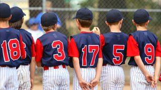 Little League sign reminding parents
