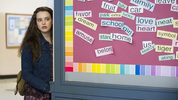 This image released by Netflix shows Katherine Langford in a scene from the series,