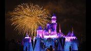 Disneyland at night.