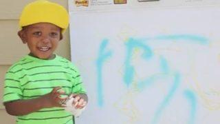 VIDEO: Toddler reenacts