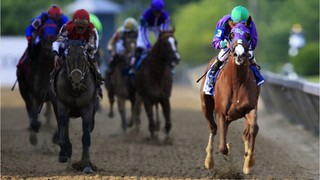 Cloud Computing wins in upset at 2017 Preakness Stakes