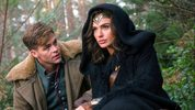 This image released by Warner Bros. Pictures shows Chris Pine, left, and Gal Gadot in a scene from,