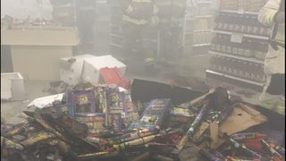 Police search for teens accused of setting off fireworks inside grocery store