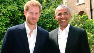 Obama meets with Prince Harry in London