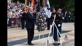 PHOTOS: Trump Memorial Day observance at Arlington