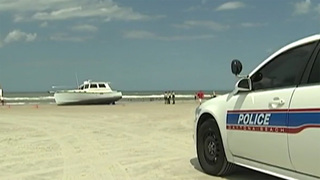 Unmanned boat crashes full-speed onto Florida beach