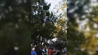 Watch: Girl falls 25 feet from Six Flags ride, caught by other park guests