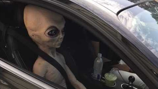Driver with alien passenger pulled over for speeding