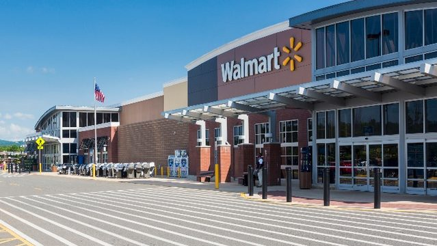 Entrance to large Walmart food superstore (stock photo). & Body found in locked Walmart bathroom now identified as 29-year ...