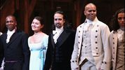 Leslie Odom; Jr., Phillipa Soo, Lin-Manuel Miranda and Christopher Jackson attend