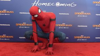 Spider-Man drops in on Starbucks customers for prank
