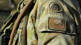 The shoulder insignia of an Australian soldier is seen at the Williamson airfied in the Shoalwater Bay Training Area as part of Battle Group Pegasus on July 12, 2017 in Rockhampton, Australia.