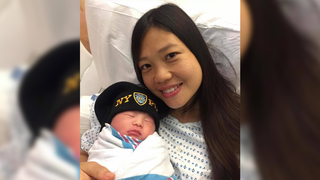 NYPD widow gives birth to slain cop