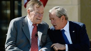 George H.W., George W. Bush condemn 'racial bigotry
