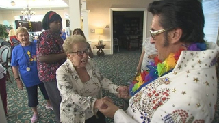 Remembering Elvis: Elvis Impersonator Visits Assisted Living Facility