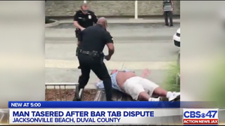 Video: Florida police use 3 Tasers, baton, 4 handcuffs to arrest bar customer