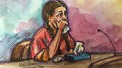 Noor Salman appeared in federal court Wednesday in California.