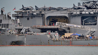 USS John S. McCain collision: Remains found during search for missing sailors