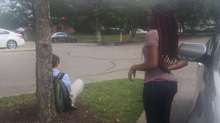 Teen comes to aid of younger student, making sure he stays safe
