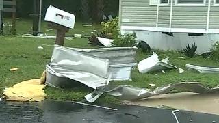 Possible Tornado Destroys Palm Bay Mobile Homes