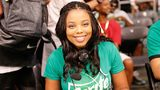 LOS ANGELES, CA - JUNE 25: Journalist Jemele Hill provides commenary during the celebrity basketball game presented by Sprite during the 2016 BET Experience on June 25, 2016 in Los Angeles, California. (Photo by Rich Polk/BET/Getty Images for BET)