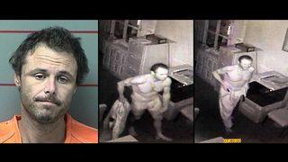 Funeral home burglar stole, wore dead man