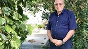 Joseph Licata in his backyard in suburban West Palm Beach.