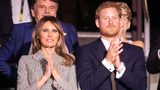 Melania Trump meets Prince Harry on first solo trip as first lady