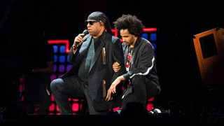 Stevie Wonder takes