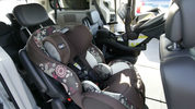 Child safety seats are installed in a van at the opening of the Dorel Technical Center for Child Safety in Columbus, Indiana, on Sept. 2, 2010. AJ Mast/ AP Images for Dorel