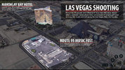 A visualization of the shooting scene along the Las Vegas strip.