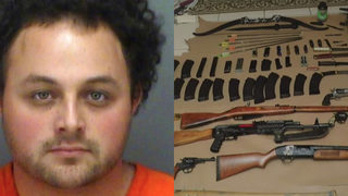Florida man arrested after bombs, ammo, school maps found in home
