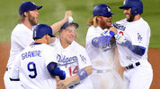 The Dodgers celebrated after clinching their first World Series berth since 1988.