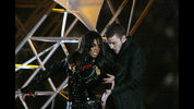 Singers Janet Jackson and Justin Timberlake caused a controversy during the halftime show at Super Bowl XXXVIII in 2004.