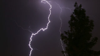 Video captured by mom shows lightning bolt that nearly killed her son