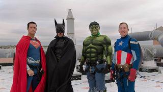 Police superheroes surprise kids in Texas hospital