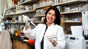 "Scripps Florida researcher Susana Valente is working on ""a functional cure"" for HIV at her lab in Jupiter on November 1, 2017."