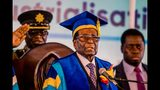 Zimbabwe's President Robert Mugabe delivered a speech during a graduation ceremony Friday at the Zimbabwe Open University in Harare.